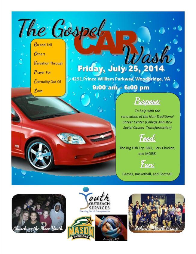 Great Big Gospel Car Wash Flyer