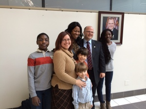 Martin Nohe, Board of County Supervisor, Coles District. He is with his wife, Chris and there children; Jack, Nicholson, Teddy and Rachel